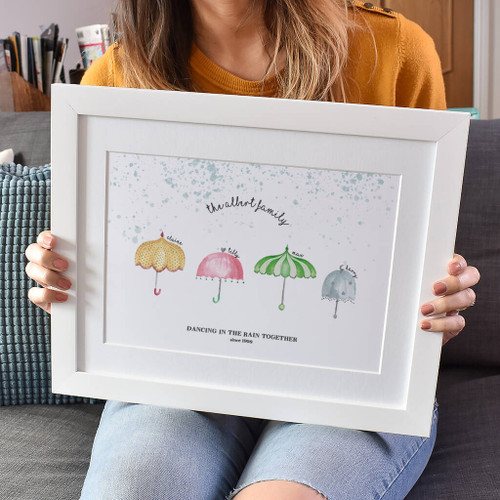 Personalised Umbrella Family Print