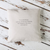 Extra message on the back of the cushion