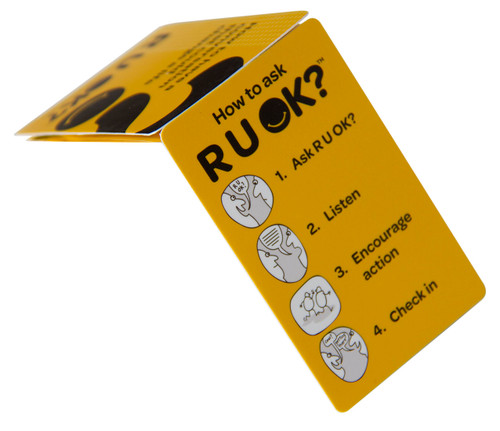 Pamphlet - Guidance for Asking R U OK? (Fold Out Z-Card)