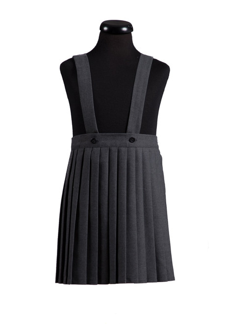 Grey pleated skirt with strap (69016)