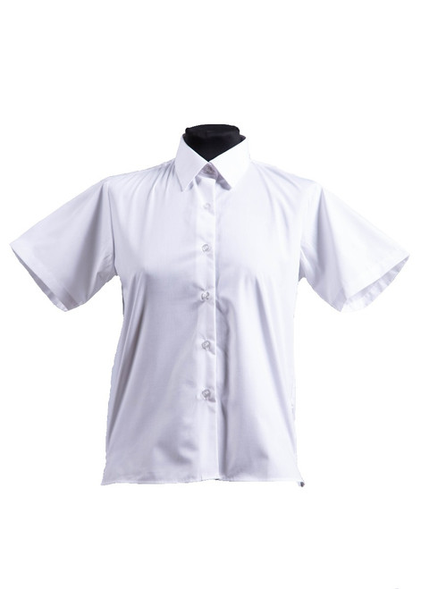 White short sleeved blouse - twin pk (63090)