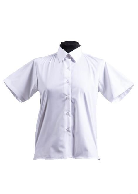 White short sleeved blouse - twin pk (63090)