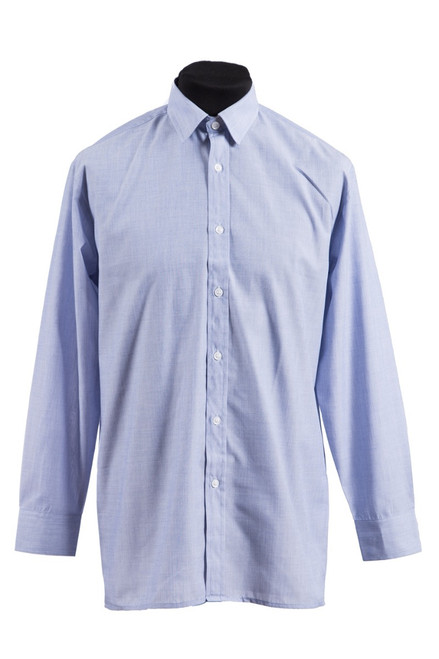 Blue L/S shirt - twin pk (37097)
