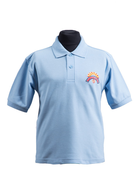 Newbridge Junior School sky polo shirt (37045)