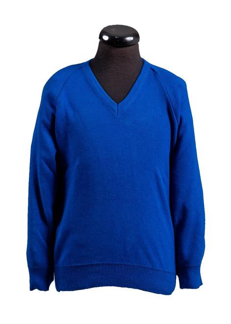 Royal v-neck jumper (36044)