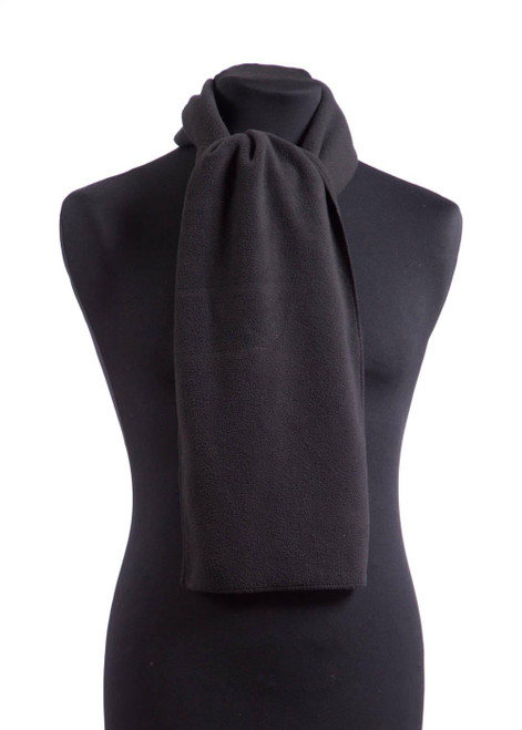 Black fleece scarf (31591)