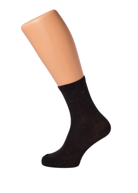 3 pk charcoal grey socks (35033)