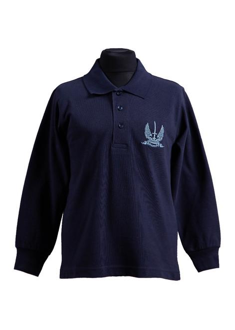 Vinehall navy long-sleeved polo shirt - Nursery to Year 6 (37576)