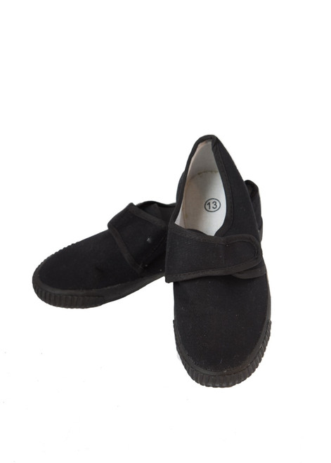 Black plimsoll - velcro closure (41010)