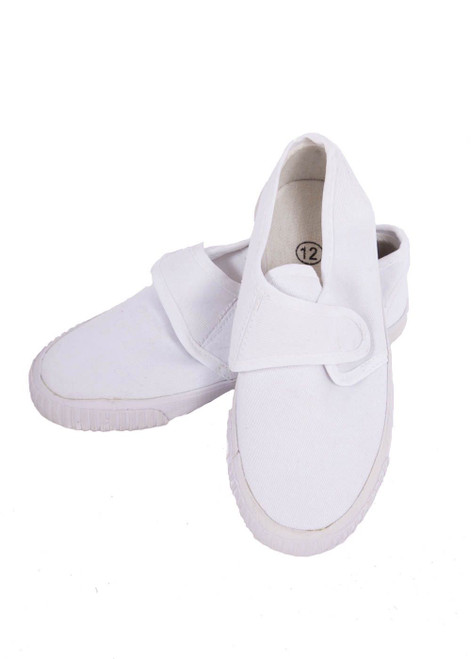 White plimsoll - velcro closure (41007)