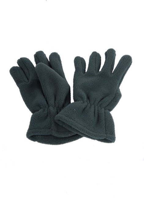 Green fleece gloves (60312)