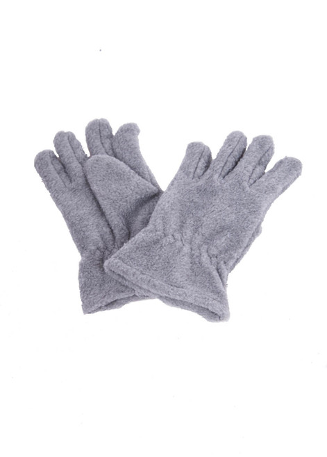 Grey fleece gloves (60323)