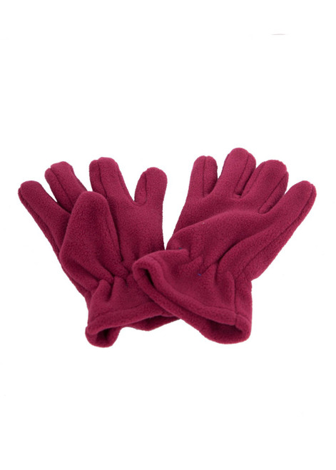 Maroon fleece gloves (60327)