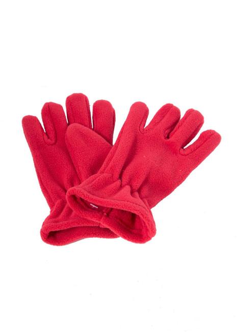 Red fleece gloves (60329)