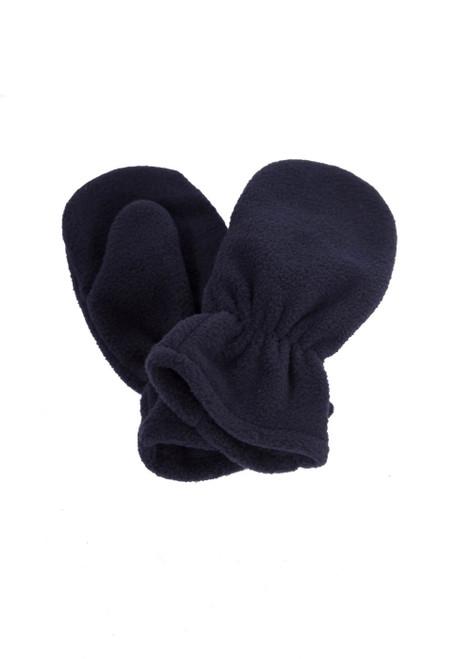 Navy fleece mittens (60345)