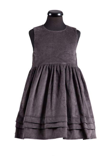Somerhill grey cord pinafore (69631)