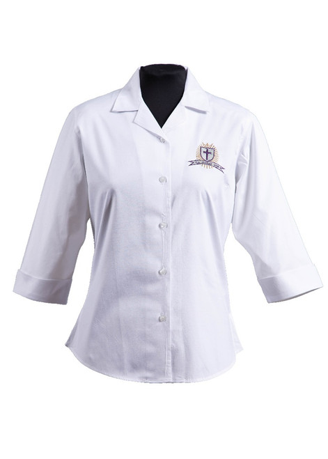 Christ the King College girls 3/4 sleeved blouse - yr 7-11 (63238) - REDUCED PRICE