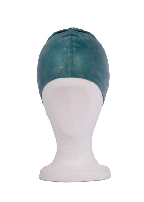 Green silicon swim hat (39092)