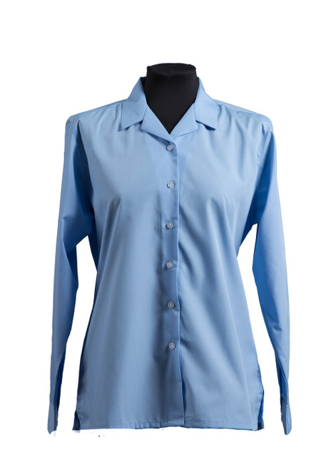 The Mead School blue long sleeved blouse (63256)