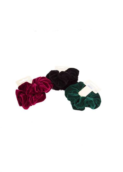 Velvet scrunchies (60825)