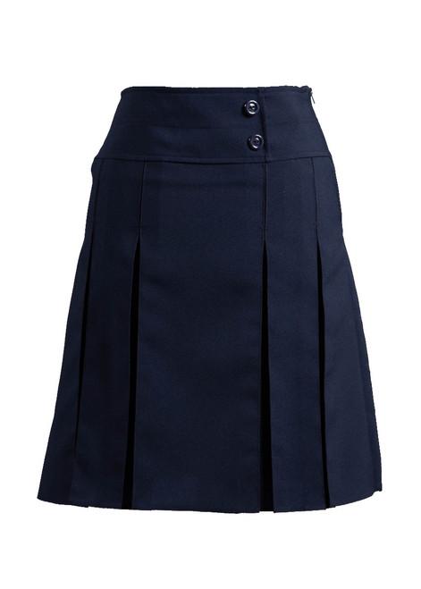 Navy pleated skirt (69226)