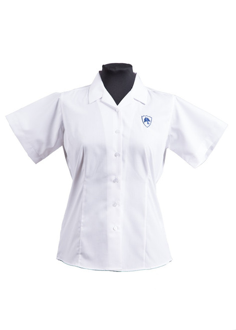 Claremont semi fitted blouse - twin pk (63248)