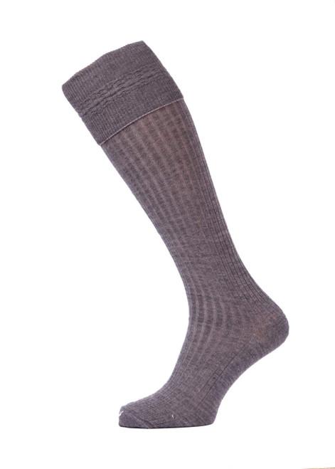 Grey TOT 3/4 socks - twin pack (35056)