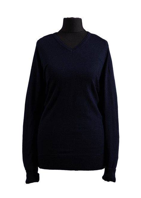 Navy fully fashioned jumper (68236)