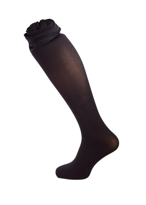 Black opaque tights - twin pk (67304)