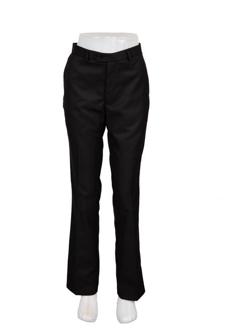 Black slim fit straight leg trouser (47241)