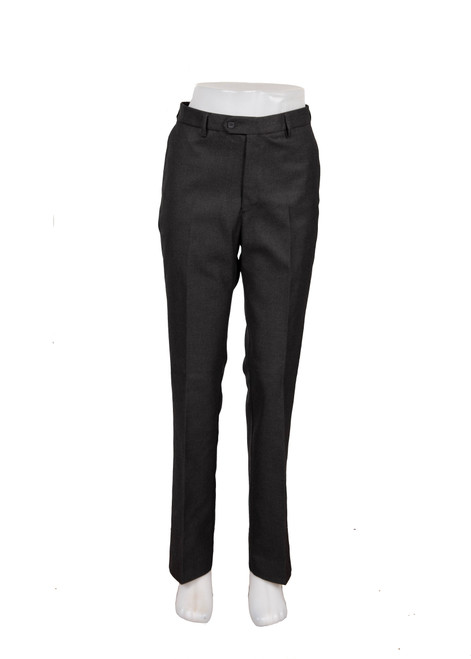 Charcoal slim fit straight leg trousers (47242)