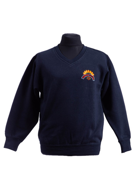 Newbridge Junior School v-neck sweatshirt (42161)