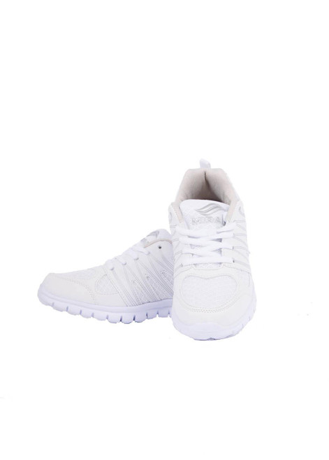 All white lace up trainer (41045)