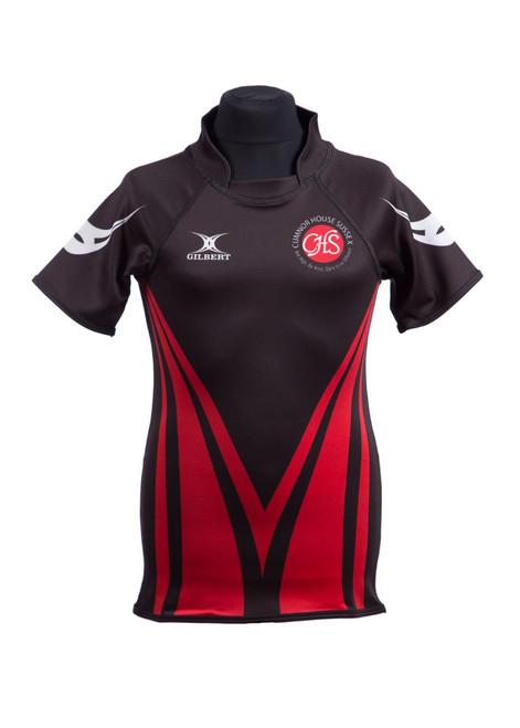 Cumnor House - Black house rugby shirt (42188)