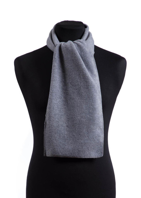 Grey fleece scarf (31593)
