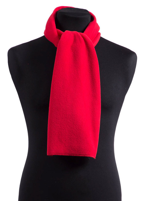 Red fleece scarf (31596)