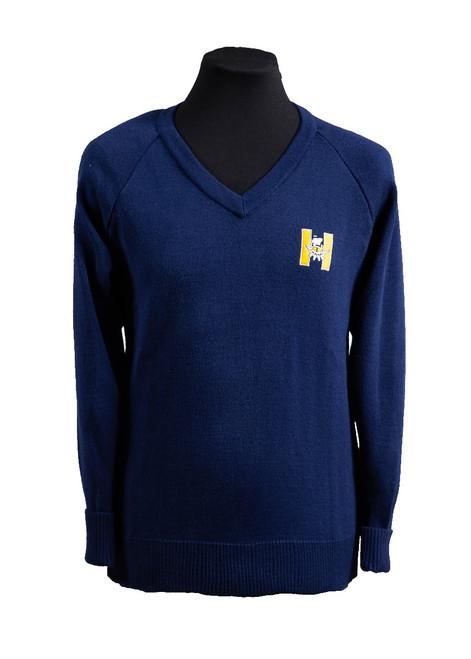 Hayesbrook navy blue jumper - yrs 7, 8 & 9 (36208)