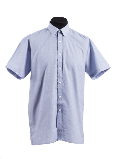 Blue S/S shirt - twin pk (37098)