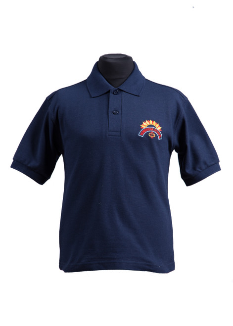Newbridge Junior School navy polo shirt (37046)