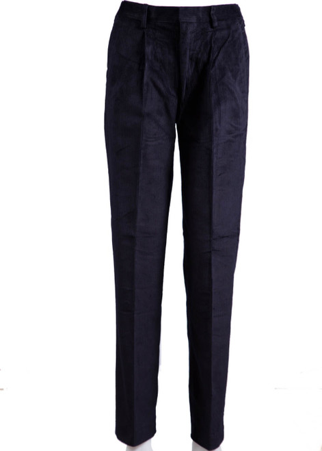 Dulwich navy cord trousers - pull up (47044)