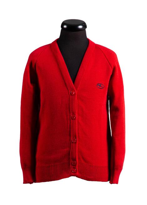 Beechwood Prep red cardigan for girls Reception - yr 6 (68111)