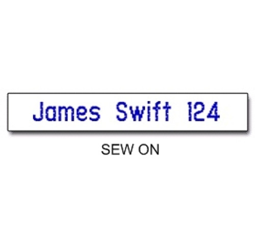 NAME TAPES SEW ON STYLE 2 (31922)