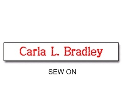NAME TAPES SEW ON STYLE 3 (31923)