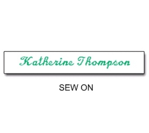 NAME TAPES SEW ON STYLE 4 (31924)