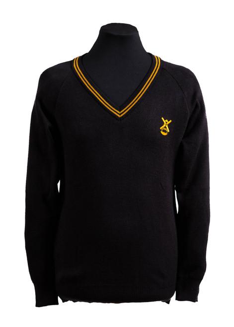 Billericay unisex black jumper (36106)