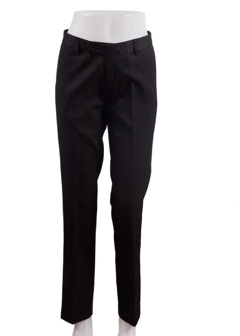 Black slim fit straight leg trousers (47842) - Limited availability