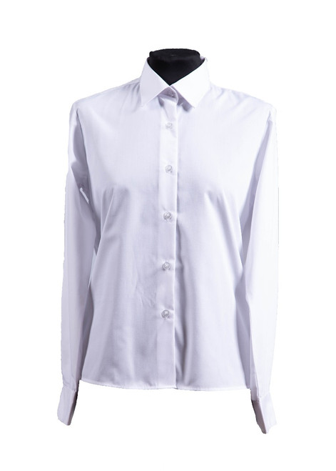 White long sleeved blouse - twin pk (63084)