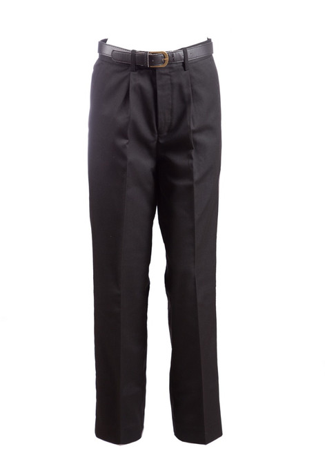 Black trousers with single pleat (47111) - Limited availability