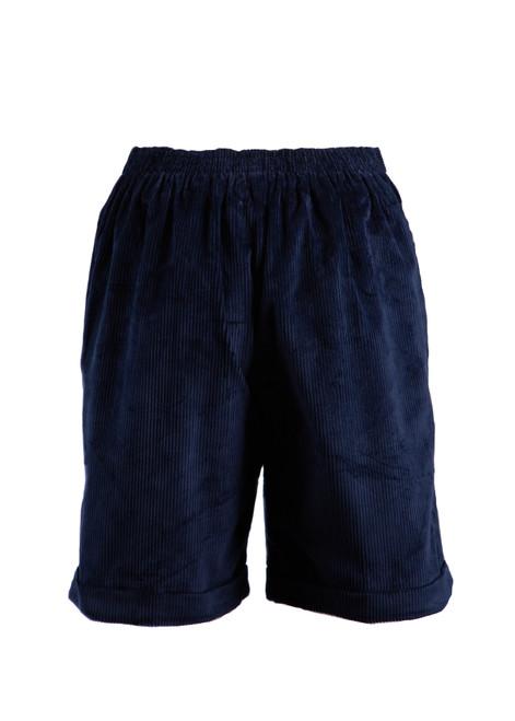 Lorenden Prep navy cord shorts (38027)