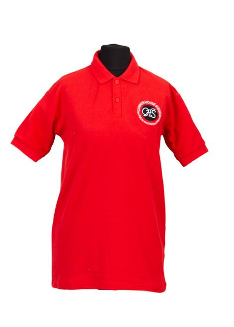 Cumnor House red polo shirt (37211)